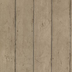 Teton Light Brown Wide Wooden Planks Wallpaper