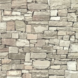 Wrangell Beige Stacked Slate Wallpaper