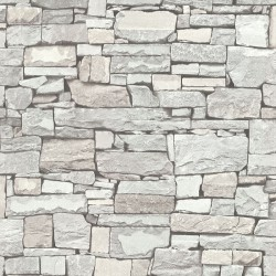 Wrangell Cream Stacked Slate Wallpaper