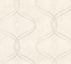 2813-801620 Waters Cream Ogee Wallpaper