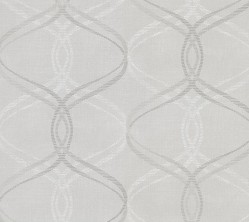2813-801637 Waters Light Grey Ogee Wallpaper