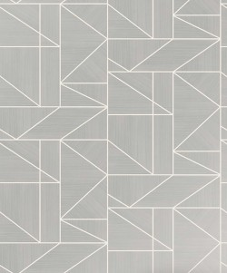 2813-M1381 Ina Silver Geometric Wallpaper