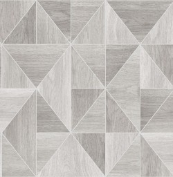 2814-24960 Simpson Light Grey Geometric Wood Wallpaper