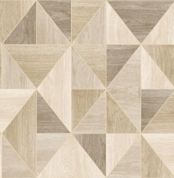2814-24962 Simpson Light Brown Geometric Wood Wallpaper