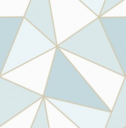 2814-24978 Apex Blue Geometric Wallpaper