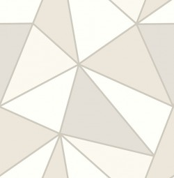 2814-24981 Apex Taupe Geometric Wallpaper
