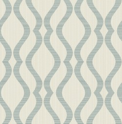 2834-25066 Yves Teal Ogee Wallpaper