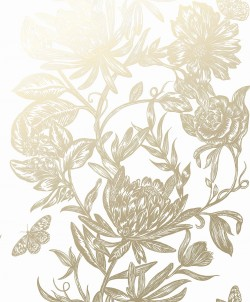 2834-M1474 Marquis Gold Floral Wallpaper