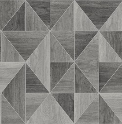 2836-24963 Corin Grey Wood Geometric Wallpaper