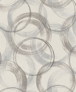 2836-467758 Yorick Grey Distressed Circle Wallpaper