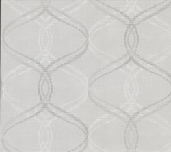 2836-801637 Fleance Light Grey Ogee Wallpaper