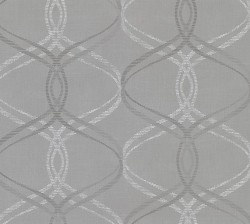 2836-801644 Fleance Grey Ogee Wallpaper