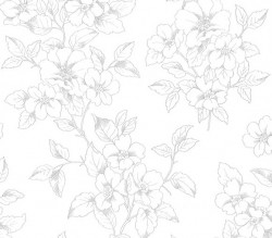 2836-801910 Romeo Off-White Floral Trail Wallpaper