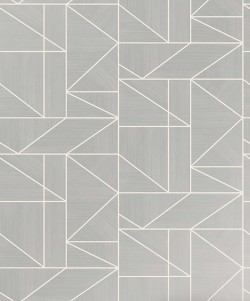 2836-M1381 Malvolio Silver Geometric Wallpaper