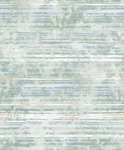 2838-IH2256 Makayla Sea Green Distressed Stripe Wallpaper