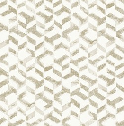 2902-25500 Instep Champagne Abstract Geometric Wallpaper