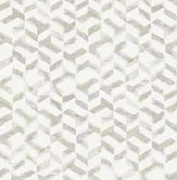 2902-25502 Instep Pewter Abstract Geometric Wallpaper