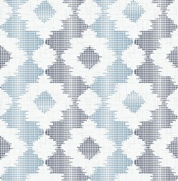 2902-25521 Babylon Blue Abstract Floral Wallpaper