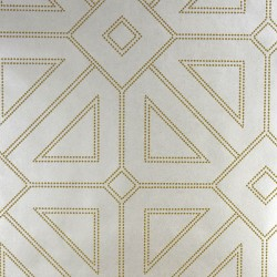 2902-87335 Voltaire Ivory Geometric Wallpaper