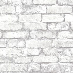 2922-21261 Debs White Exposed Brick Wallpaper