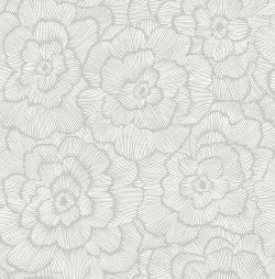 2969-26036 Periwinkle Light Grey Textured Floral Wallpaper