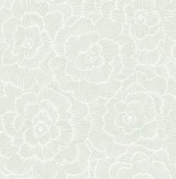 2969-26040 Periwinkle Green Textured Floral Wallpaper