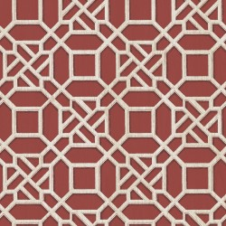 Sage Hill Adlington Maroon Geometric Wallpaper