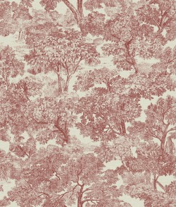 Sage Hill Blyth Red Toile Wallpaper