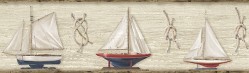 Set Sail Wheat Boat Border