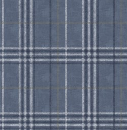 3114-003311 Rockefeller Navy Plaid Wallpaper