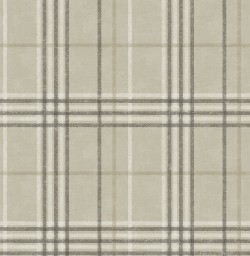 3114-003313 Rockefeller Beige Plaid Wallpaper