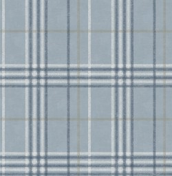 3114-003315 Rockefeller Light Blue Plaid Wallpaper