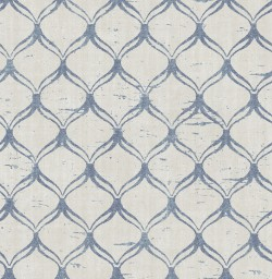 3114-003329 Bowery Blue Ogee Wallpaper