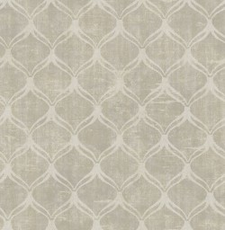 3114-003330 Bowery Taupe Ogee Wallpaper