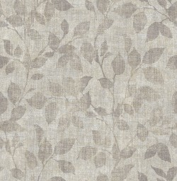 3114-003383 Gramercy Park Pewter Leaf Wallpaper