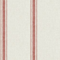 Linette Burnt Sienna Fabric Stripe Wallpaper