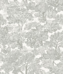 Spinney Grey Toile Wallpaper