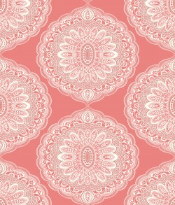 3117-12305 Bolinas Coral Medallion Wallpaper