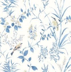 3117-24170 Imperial Garden Blue Botanical Wallpaper