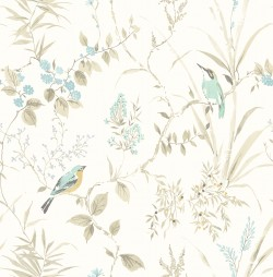 3117-24171 Imperial Garden Beige Botanical Wallpaper