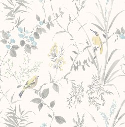3117-24172 Imperial Garden Grey Botanical Wallpaper