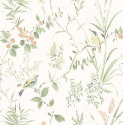3117-24174 Imperial Garden Light Green Botanical Wallpaper