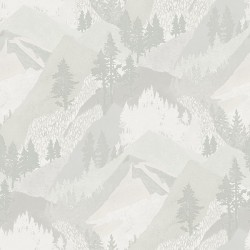 3118-12633 Range Light Grey Mountains Wallpaper