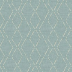 3118-12652 Tapa Teal Trellis Wallpaper