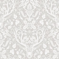 3118-12701 Kiwassa Taupe Antler Damask Wallpaper