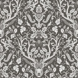 3118-12704 Kiwassa Brown Antler Damask Wallpaper