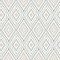 3118-12712 Ganado Grey Geometric Ikat Wallpaper