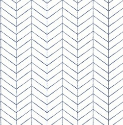 3118-25096 Bison Navy Herringbone Wallpaper