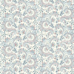 3119-01385 Sycamore Denim Paisley Floral Wallpaper