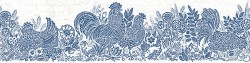 3119-13551B Parton Blue Chicken Border